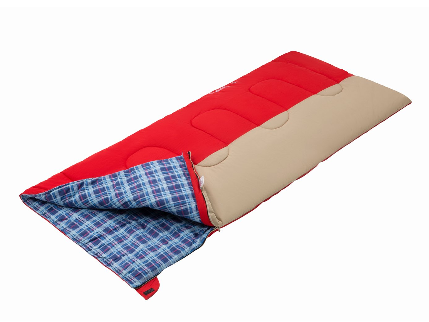 KingCamp Comfort Oversize XL Lightweight Cotton Flannel Lined Cool Weather Sleeping Bag, 41℉, 78.7 × 35.4