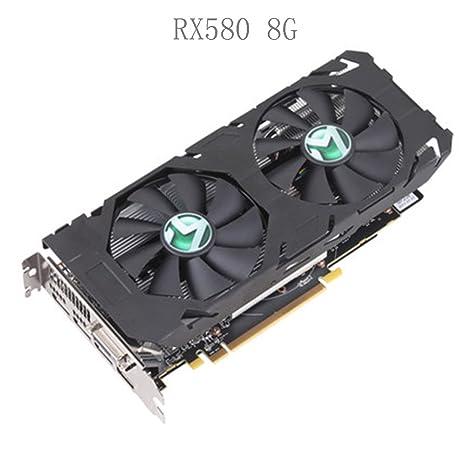 MAXSUN Tarjeta gráfica RX580 AMD Radeon 8G 256bit 8000 MHz Memoria ...