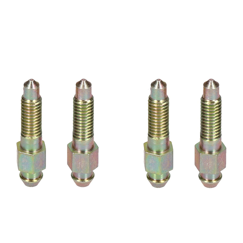 6x1mm de l/étrier de frein en acier raccord de purge Purge Bleedscrew vis 4pc