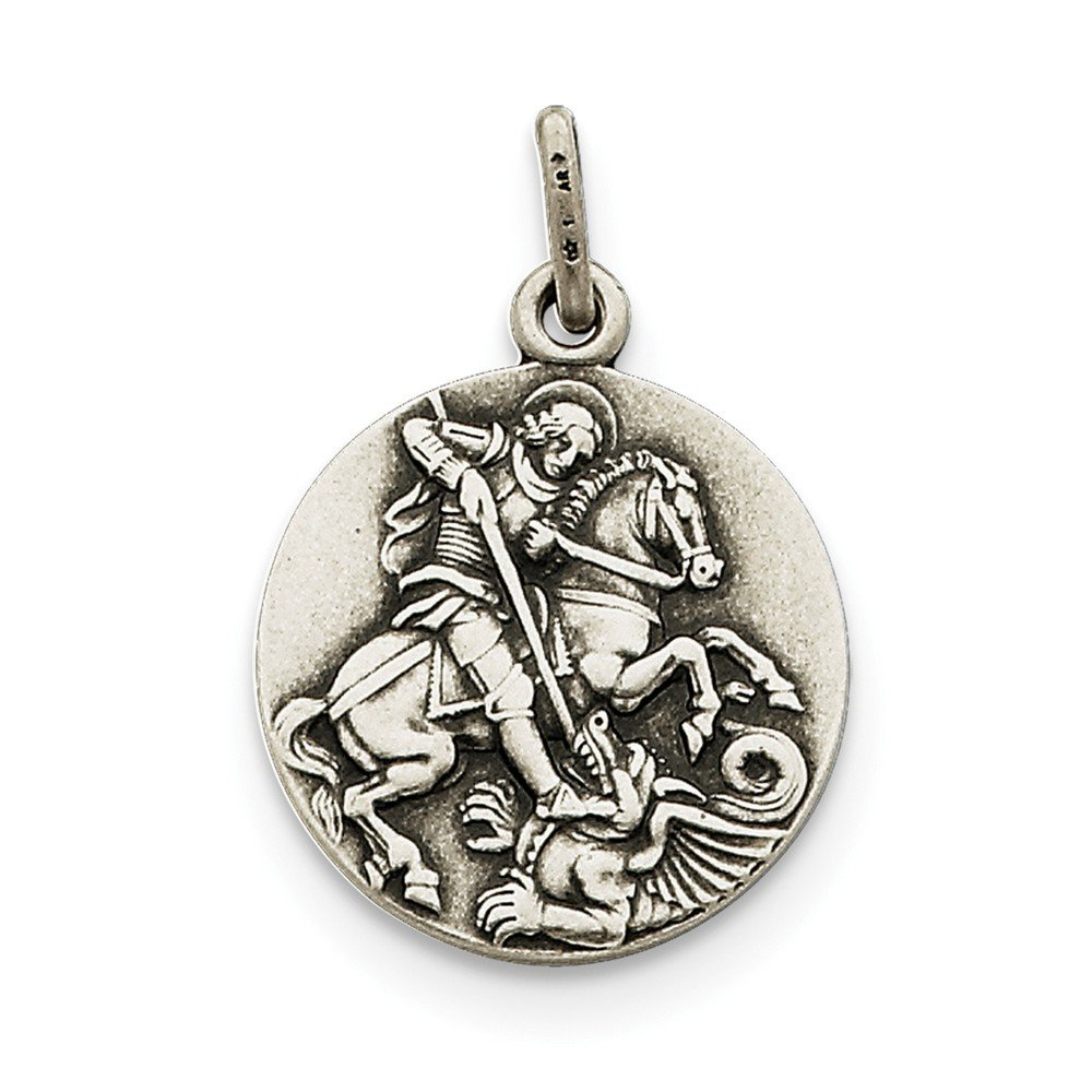 Best Birthday Gift Sterling Silver Antiqued Saint George Medal