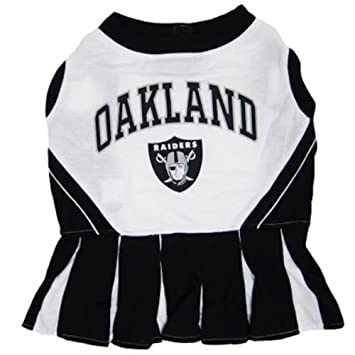 Amazon.com   Pets First Oakland Raiders NFL Team Pet Dog Cheerleader Sports  Outfit - Medium   Pet Dresses   Pet Supplies d00fa7c47