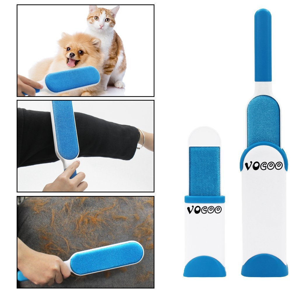 Hook 2 x Pet Hair Remover Brush Pet fur Remover fur Friend Brush blue 1x Microfiber Cleaning Mitt Reusable Lint Roller Reusable With Self-cleaning Base For Clothes Sofa Car Bed Carpet