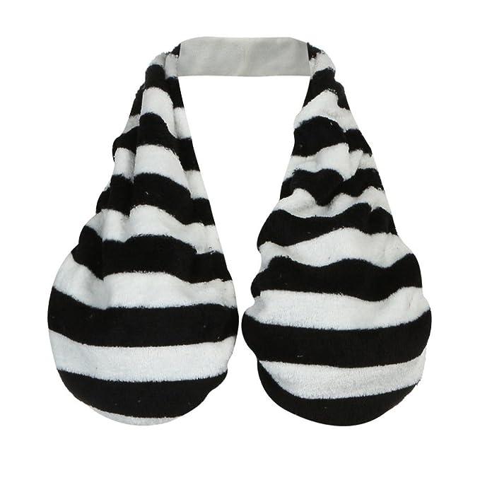 Ta Ta Towel, Xinan Negro y Blanco Stripe Sweat Toalla de Deporte Suave Toalla Boob: Amazon.es: Ropa y accesorios