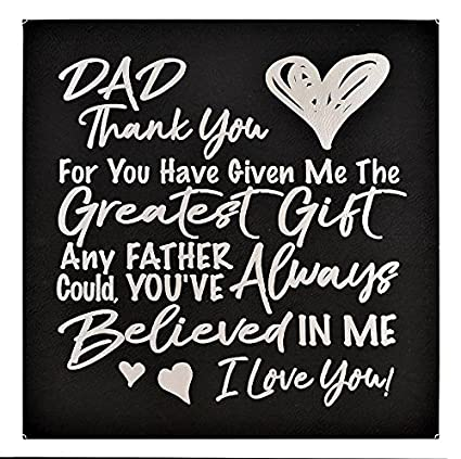 2ce692cecf173 FATHER GIFT   DAD GIFT ~ Special Dads Heart Felt Quote Inspirational Words  Beautifully Engraved in