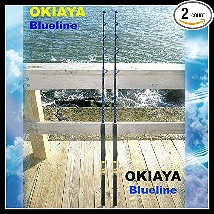 OKIAYA COMPOSIT 30-80LB SALTWATER BIG GAME ROLLER ROD Set of 4