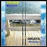 """OKIAYA COMPOSIT 30-50LB """"BLUELINE SERIES"""" SALTWATER BIG GAME ROLLER ROD SET OF 2"""