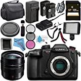 Panasonic Lumix DC-GH5S Mirrorless Micro Four Thirds Digital Camera + Panasonic Leica DG Summilux 12mm f/1.4 ASPH. Lens + DMW-BLF19 Lithium Ion Battery + 128GB SDXC Card Bundle