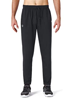bef7dbae1721 NAVISKIN Men s Athletic Running Pants Workout Training Pants Zip Pockets