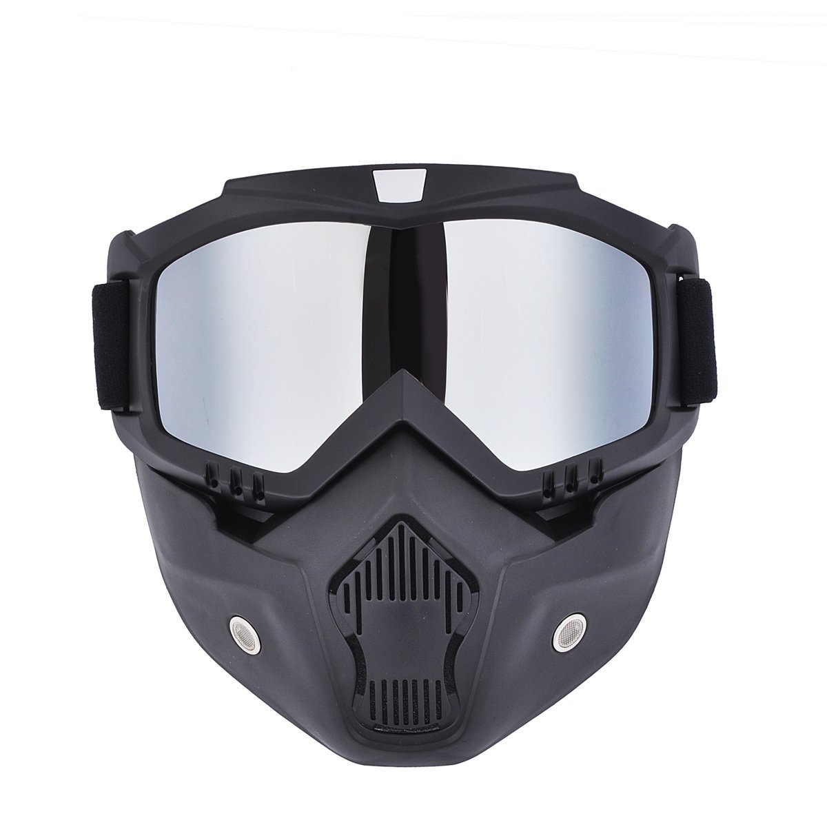 d985675b72 Amazon.com  CHCYCLE motorcycle motocross face mask with detachable Goggles(silver)   Automotive