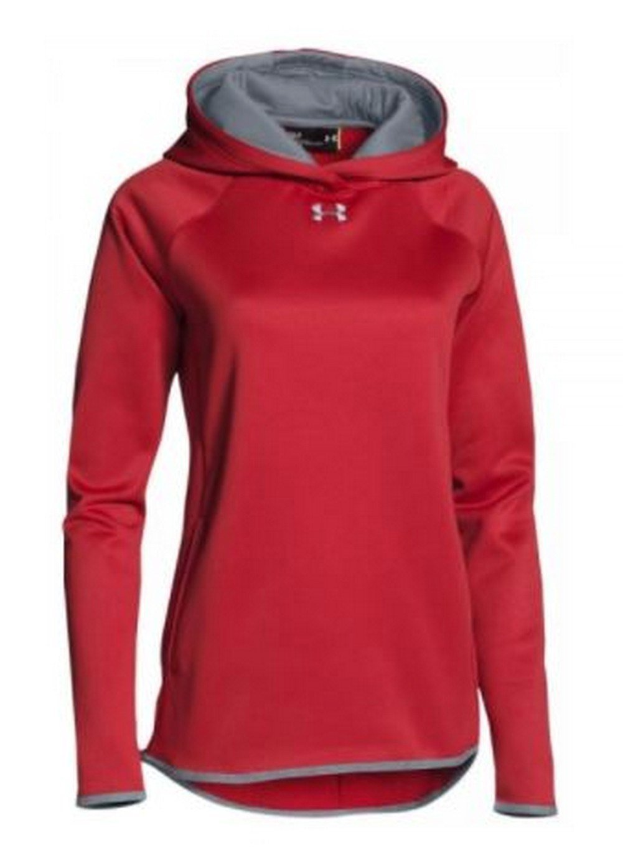 Under Armour Double Threat Women's UA Armour Fleece Hoodie Hoody (Cardinal, XS)