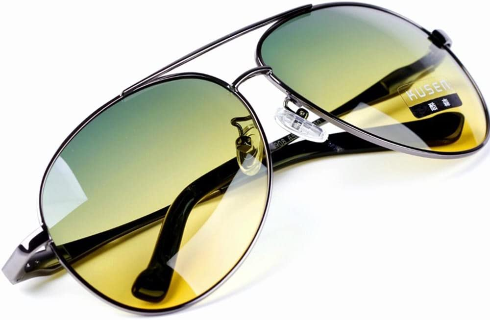 HD Night Sun Glasses Mens Womens Yellow Driving View Lens Car Driver Sunglasses