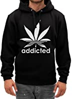 ADDICTED WEED LEAF MENS CASUAL T SHIRT