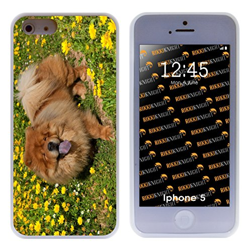 rikki-knight-chow-chow-dog-on-glade-of-yellow-flowers-hybrid-iphone-case-for-apple-iphone-5-5s