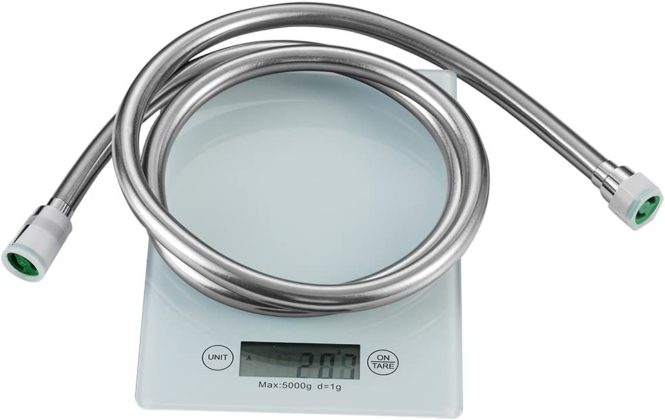 doble de Lock 1//2/para Tel/éfono de ducha incluye 2/juntas cromo Manguera de ducha casa Bath 150/cm duschbr ausen Manguera de ducha