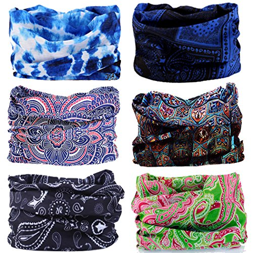 Neck Gaiter Headwear Headband Head Wrap Scarf Mask Neck/ Ear Warmers Headbands perfect for Winter Fishing, Hiking, Running, Motorcycle etc& Daily Wear for Men and (Bike Head Tube)