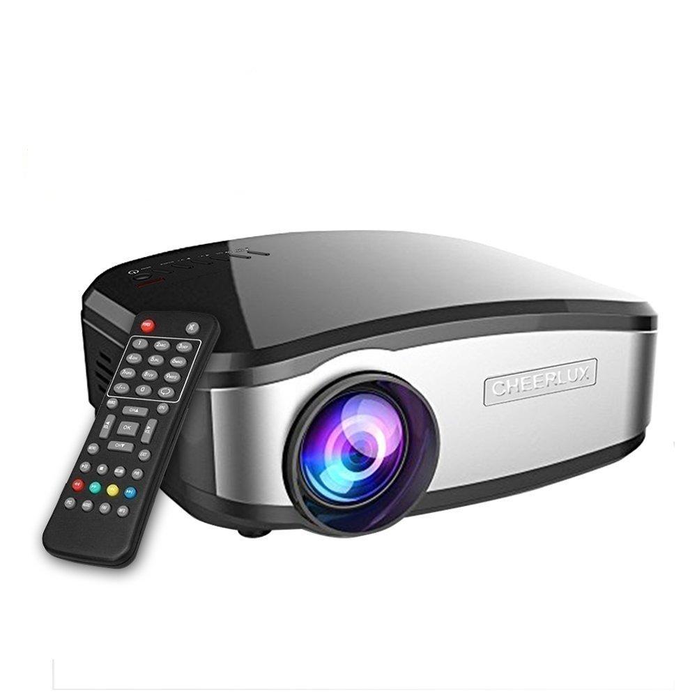 Video Beamer, GOXMGO Portable Movie Projektor mit HDMI USB Kopfhö reranschluss TV Mini Beamer gut fü r Heimkino Unterhaltung Spiel Xbox One 160 '' Max Display