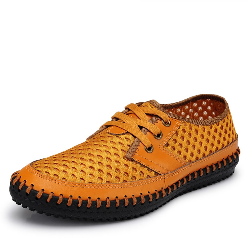 WLJSLLZYQ The Man hollowing Out in Summer Sports Network Shoe//Breathable mesh Leisure Shoes//Mesh Shoes