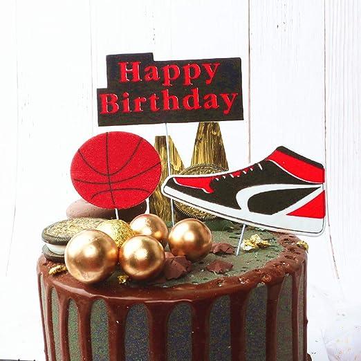 JeVenis - Juego de 3 decoraciones para tartas de baloncesto ...
