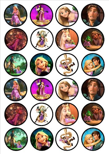 24 Rapunzel Tangled Edible PREMIUM THICKNESS SWEETENED VANIL