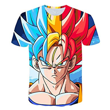 JXKEF Impresora De Camisetas 3D Anime Dragon Ball Hombre Camiseta ...