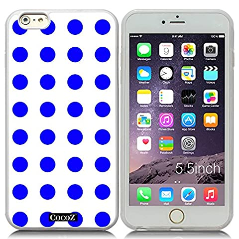 New Apple iPhone 6 s Plus 5.5-inch CocoZ® Case Beautiful lovely wave point TPU (Blue point & Transparent TPU (Teen Wolf Kindle Case)