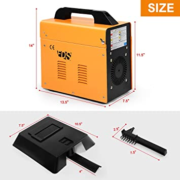 MIG 130 Welder Flux Core Wire Automatic Feed Welding Machine w/ Free Mask by Goplus: Amazon.es: Bricolaje y herramientas
