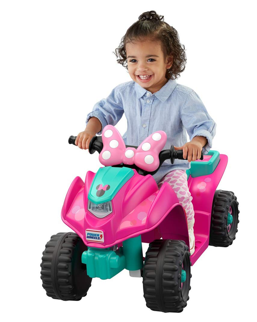 163443ebad534 Amazon.com  Power Wheels Lil  Quad Featuring Disney Minnie