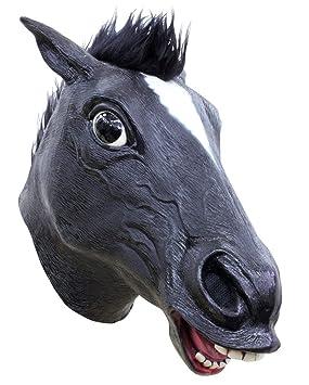 máscara de caballo con el pelo negro