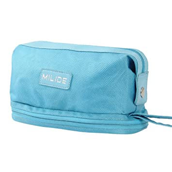 Deluxe Sky blue Canvas Men   Women Toiletry Bag – Sturdy   Durable Travel  Organizer With 4177ee2168b1b