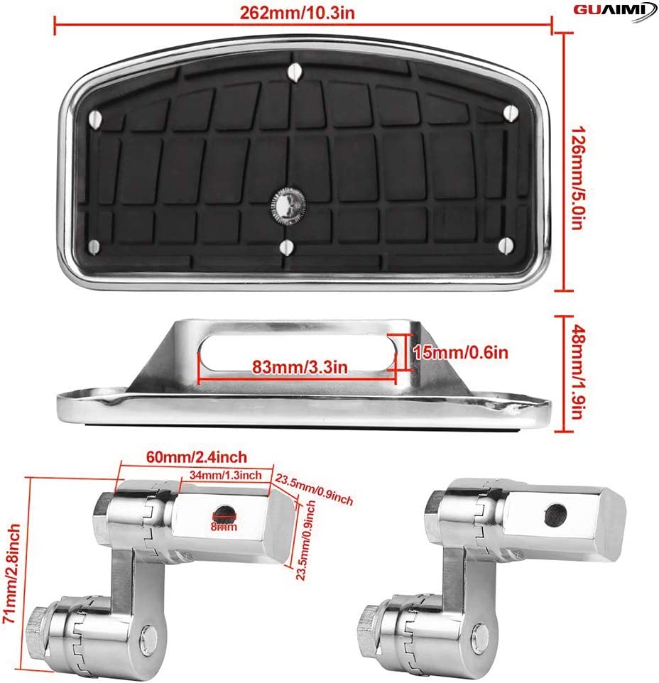 Skull Middle Finger-Chrome Motorcycle Floorboards Foot Pegs Adjustable for Yamaha V-Max XV125 XV250 XV400 XV535 XV750 XV1100 V-Star Dragstar DS250 XVS250C