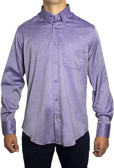 Camisa Tejido Violeta Arthur - Color : Violeta, Talla Camisas - L: Amazon.es: Ropa y accesorios