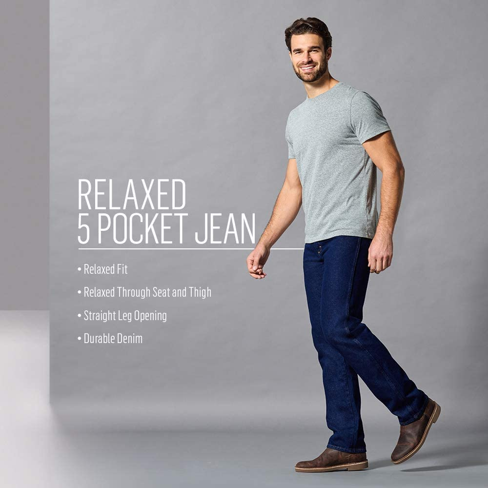 Rustler Classic Mens Relaxed 5 Pocket Jean