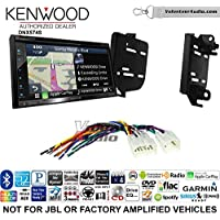 Volunteer Audio Kenwood DNX574S Double Din Radio Install Kit with GPS Navigation Apple CarPlay Android Auto Fits 2011-2015 Scion tC