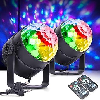 MICTUNING Luces de Bola de Discoteca,Actualización 6W 6 Colores ...