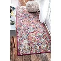 nuLOOM Pink Persian Leilani Runner, 2 Feet 8 Inches by 8 Feet