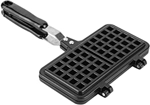 Waffle Iron Maker, Rectangle Shape Non-Stick Waffle Mold Baking Pan Making Tool for Belgian Sandwich Toaster