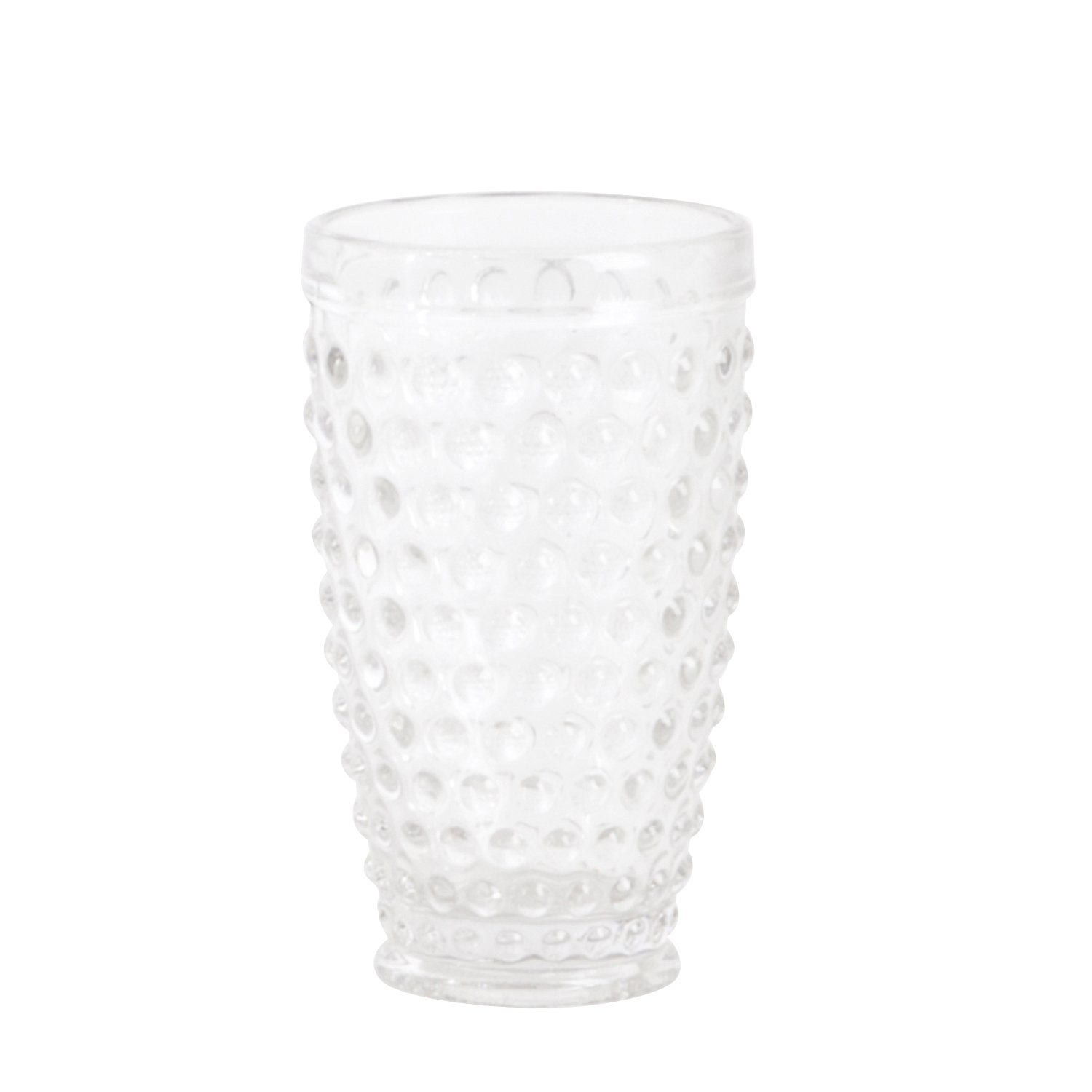 SARO LIFESTYLE SE006.C Hobnail Highball Glass, Clear, 13.53 oz (Set of 6 pcs)