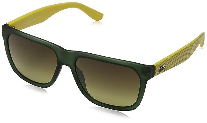 Amazon.com: Lacoste 732s 315 verde y amarillo 732 Wayfarer ...