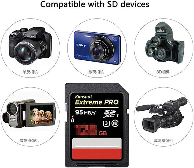 H&T Tarjeta de Memoria Ultra SDHC, Video 4K Ultra-HD Memoria de ...