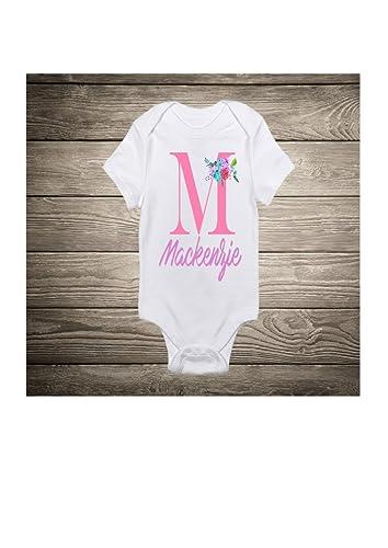 Monogram Baby Body Suit Shower Gift New Birthday