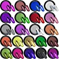 Duufin 22 Colors Nail Powder Metallic Chrome Nail Powders Mirror Effect Nails Manicure Pigment Nail Art Powder with 22 Pcs Eyeshadow Sticks, 1g/Jar