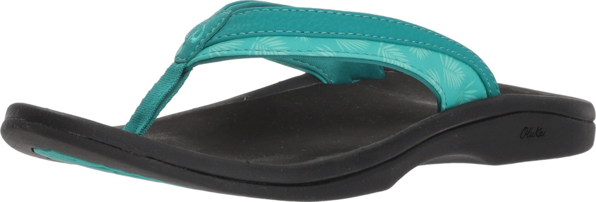 OLUKAI Women's Ohana Sandal, Paradise/Black, 7 M US by OLUKAI