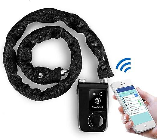 Candado De Bicicleta con Bluetooth, Cadena Bicicleta con Alarma De ...
