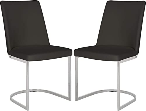 Safavieh Home Collection Parkston Black Glam Side Chair Set of 2