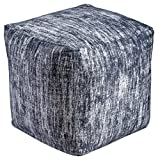 Ashley Furniture Signature Design – Darion Pouf – Comfortable Footrest & Ottoman – Contemporary – Distressed Black Review