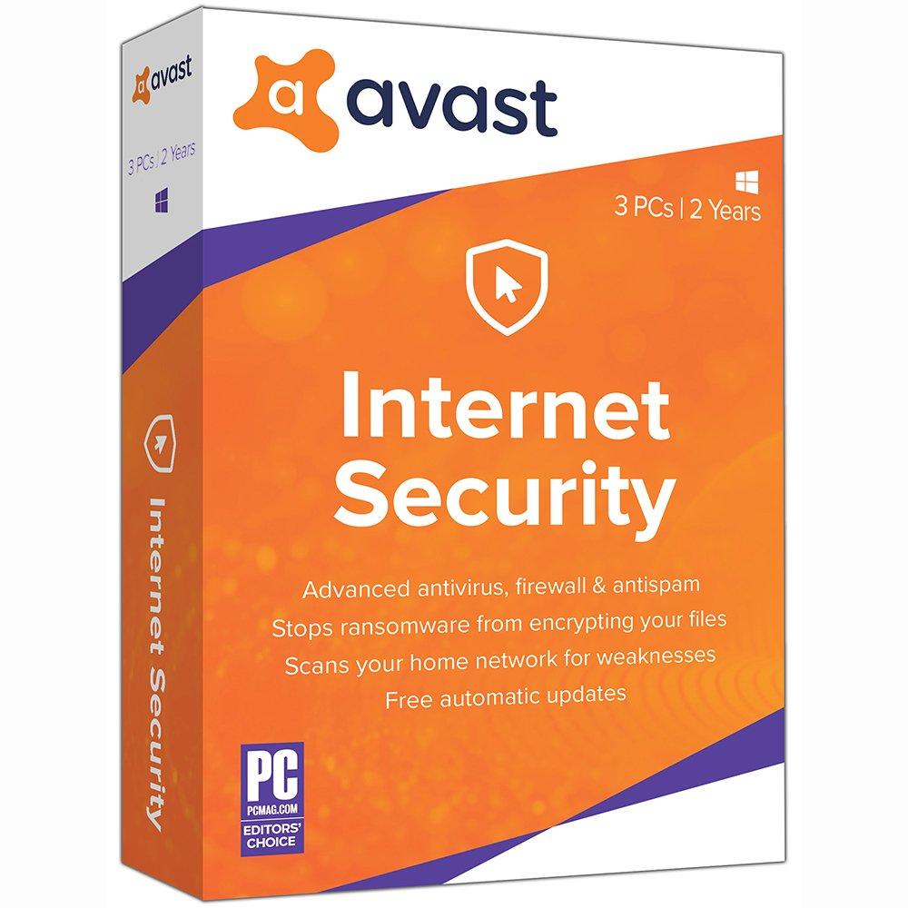 Image of Avast Internet Security 2019, 3 PCs 2 Year [Key Card]