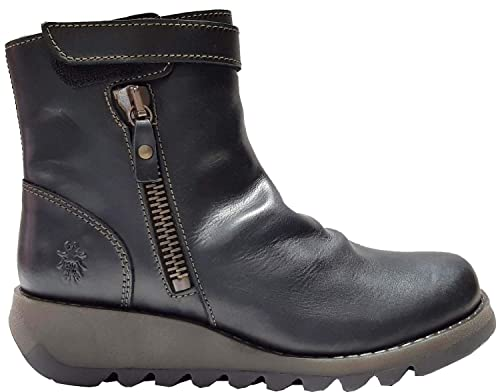 2eadea8d #Fly London Selp405fly Black Leather Womens Ankle Boots: Amazon.co.uk: Shoes  & Bags