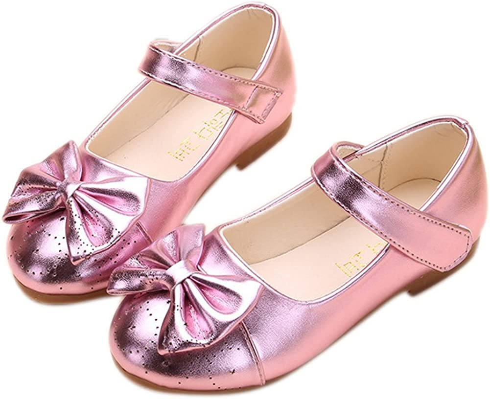 Toddler//Little Kid GESELLIE Girls Fashion Leather Chelsea Bow Ballet Mary Jane Flats
