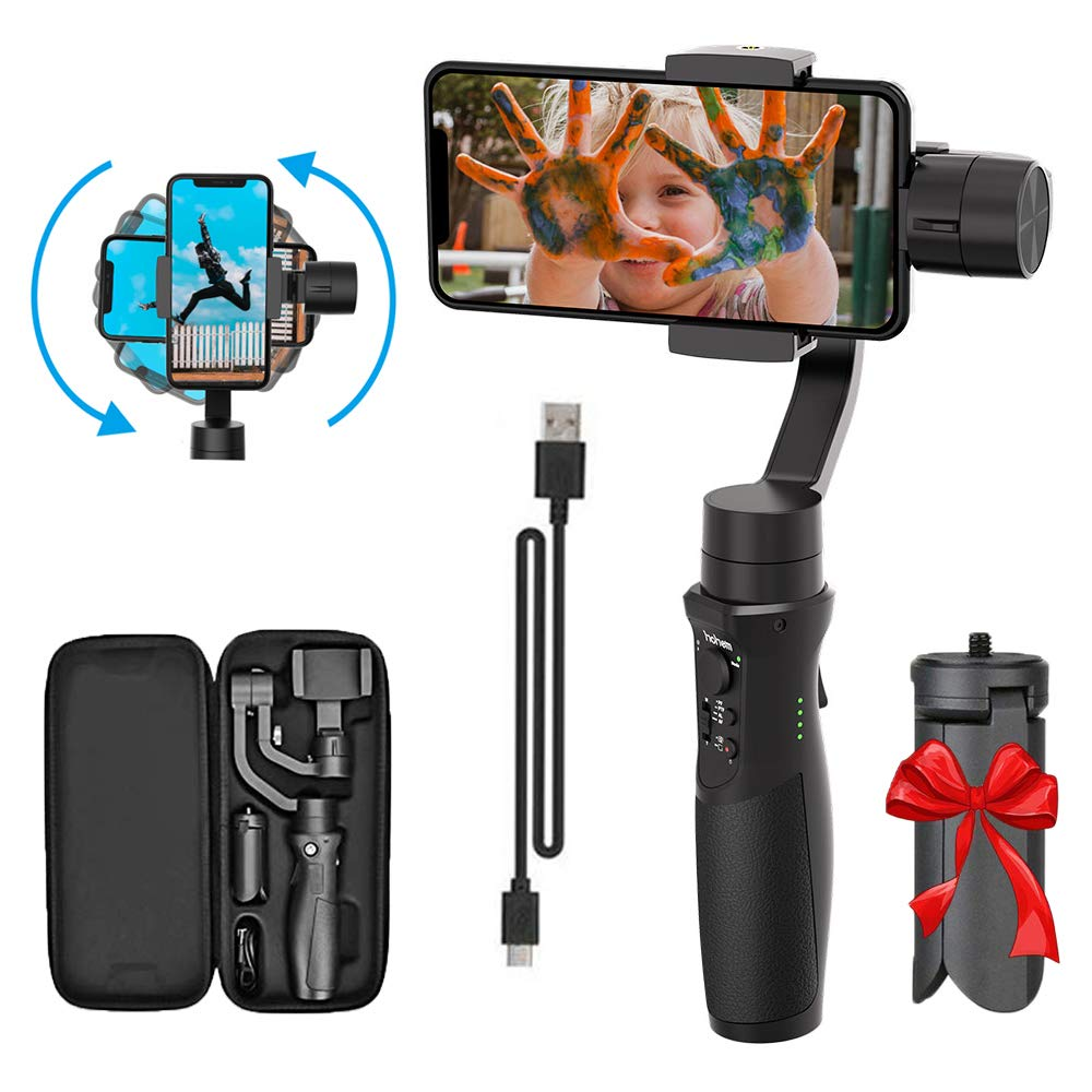 3-Axis Handheld Smartphone Gimbal Stabilizer for iPhone X XR XS Vlog Youtuber Live Video Record with Sport Inception Mode Face Object Tracking Motion Time-Lapse - Hohem Isteady Mobile Plus by Hohem