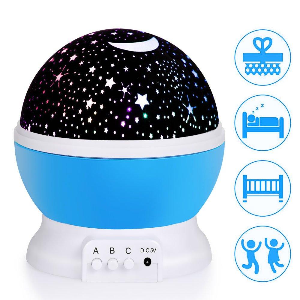 Ubegood Luces de Proyector de Estrellas LED Lámpara Proyector de Noche lámpara